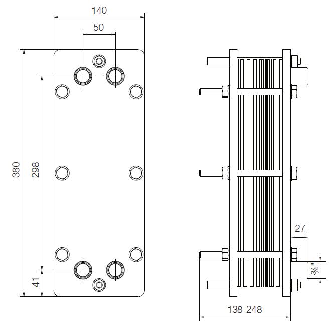 Уплотнения теплообменника Alfa Laval T2-BFG Уссурийск Подогреватель высокого давления ПВД-К-400-20-4,5-6 Великий Новгород